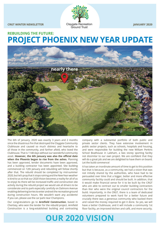 REBUILDING THE FUTURE: PROJECT PHOENIX NEW YEAR UPDATE