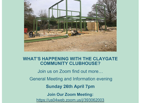 WHAT'S HAPPENING WITH THE CLAYGATE COMMUNITY CLUBHOUSE?