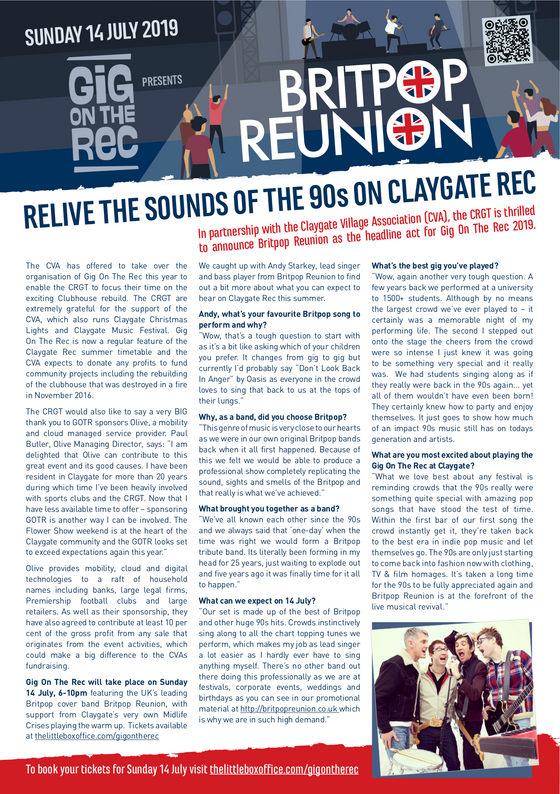 RELIVE THE SOUNDS OF THE 90s ON CLAYGATE REC