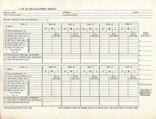 Manual load calculation worksheet
