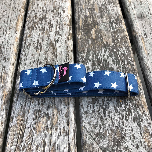 Martingale 2,5 cm Blue with star