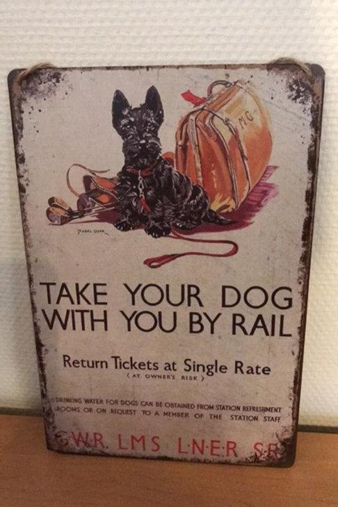 Huisspreuk Take your dog....