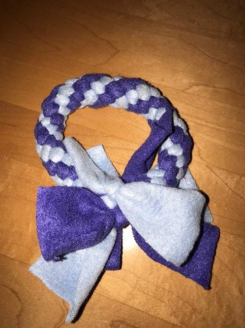 Fleece ring 7 cm paars wit