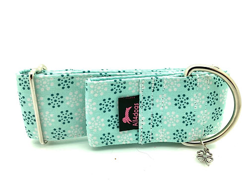 Martingale 5 cm  Light Blue with print