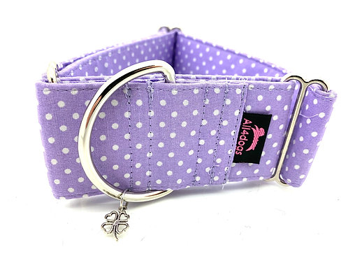 Martingale 5 cm Lilac with small dots