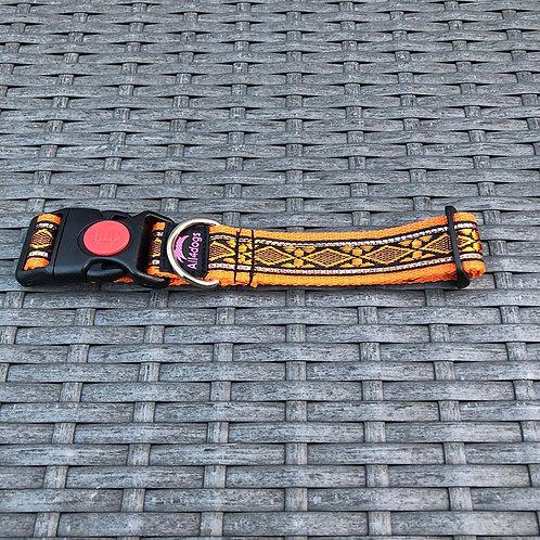 Halsband 2.5cm breed oranje