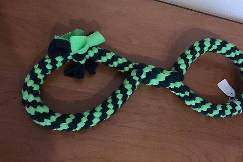 Fleece strik 40cm groen zwart