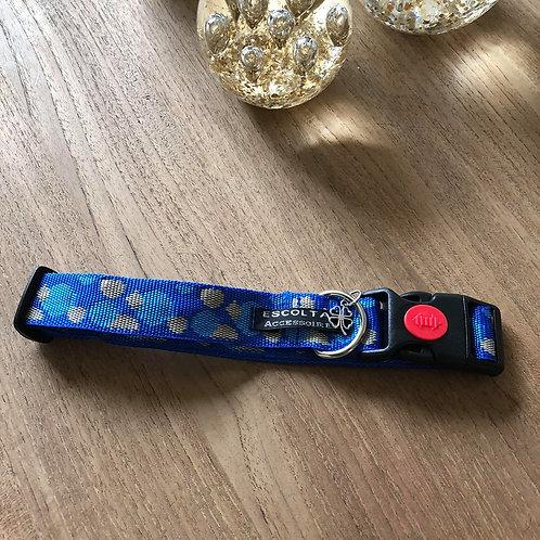 Halsband 2.5cm breed blauw