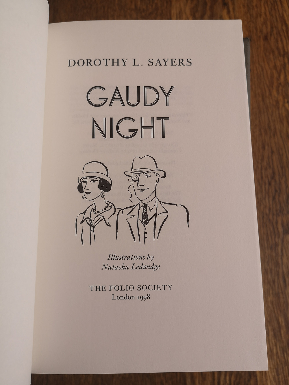 Gaudy Night title page from Folio Society edition