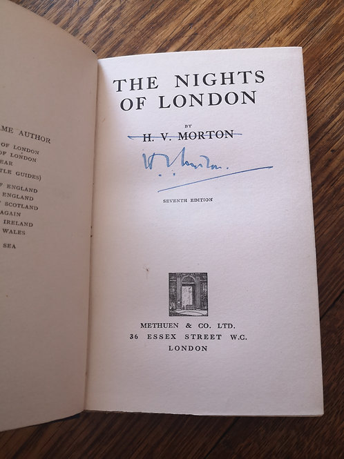 The Nights of London by H.V. Morton