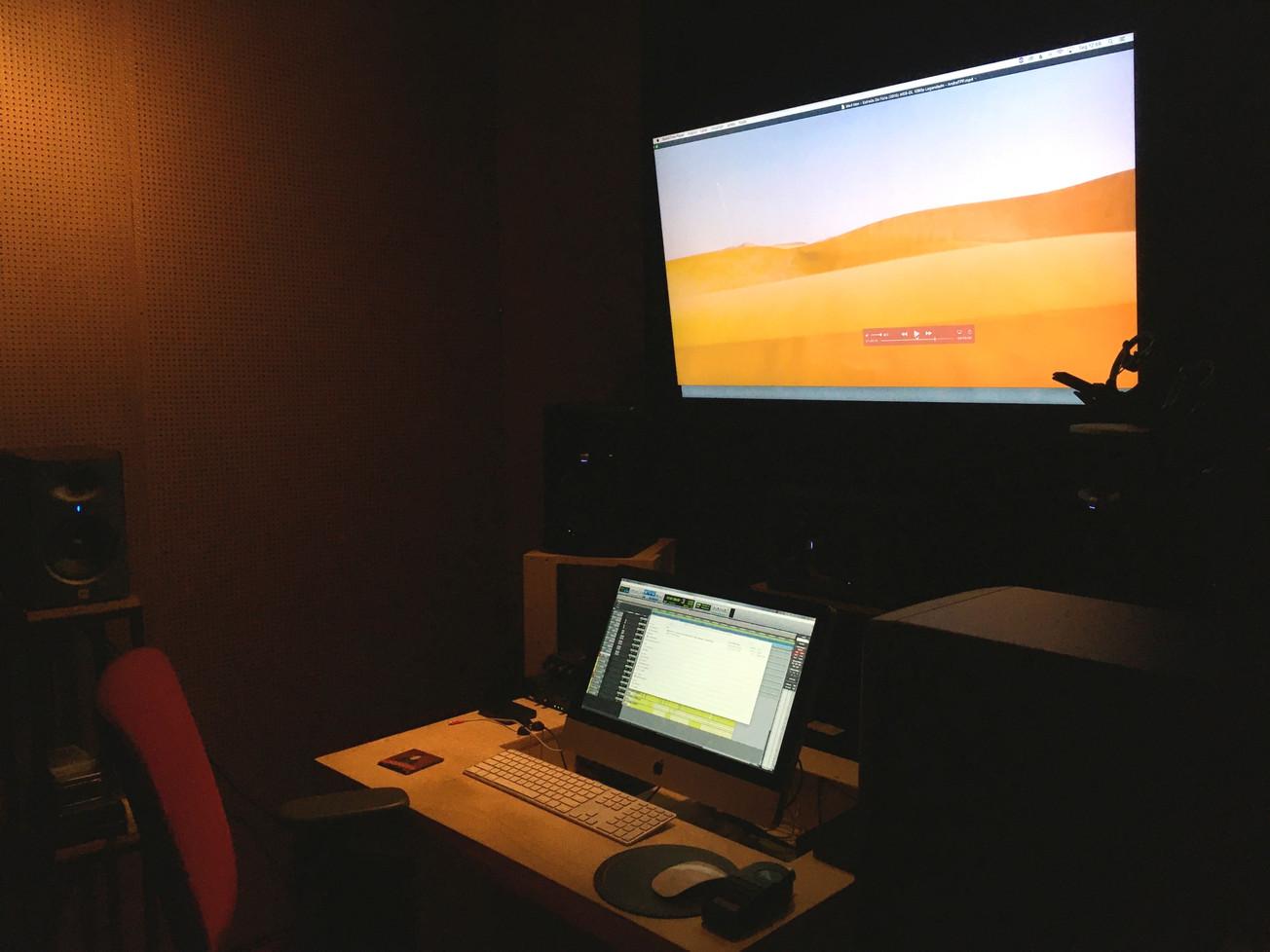 estúdio de edição de som e mixagem para televisão em Fortaleza. sistema 5.1 JBL e protools 2020