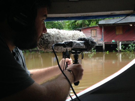 gravando lindos ambientes de Igarapé próximo a Curralinho na Ilha do Marajó