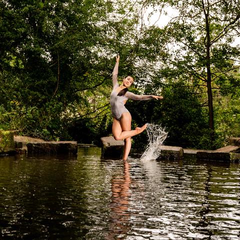 gancing on water