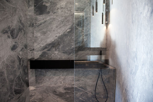grey marble shower