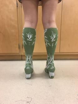 Spoonflower-Printed Spandex Shoes