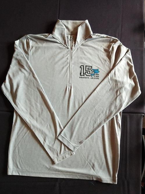 15 Year Cream Unisex Half-Zipper Sweatshirt