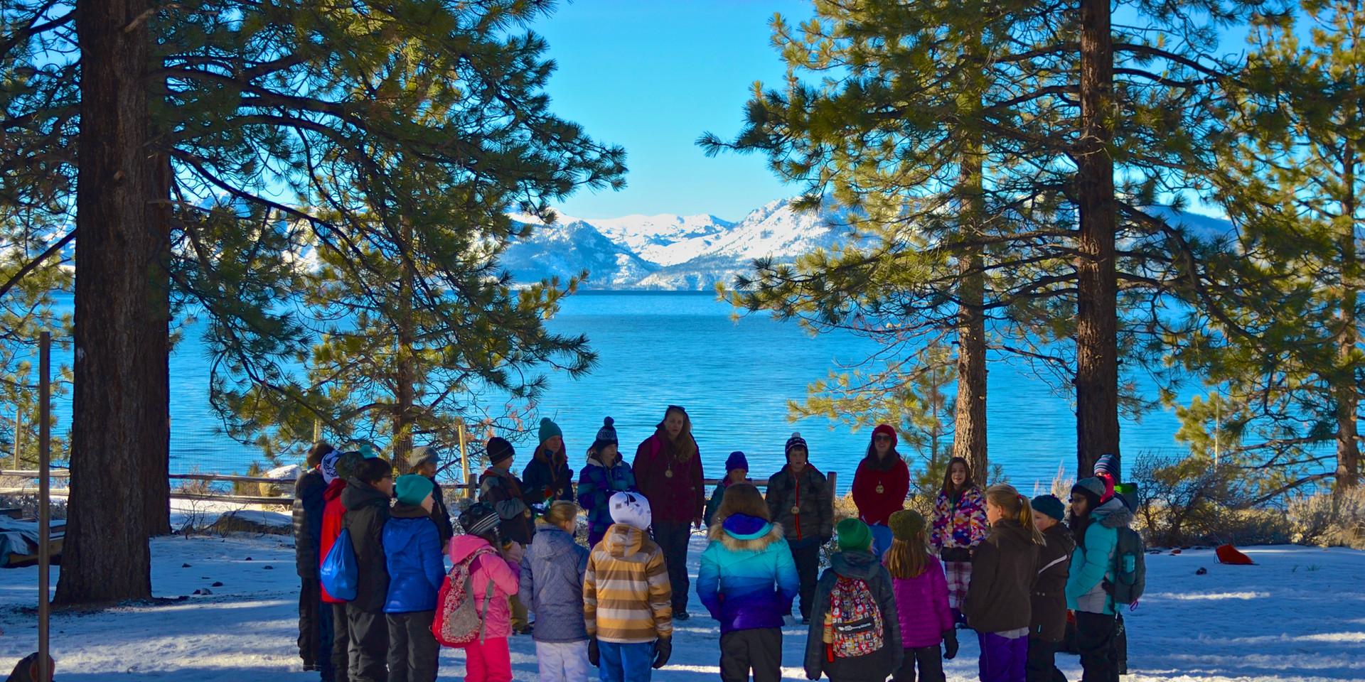Winter camp Lake Tahoe