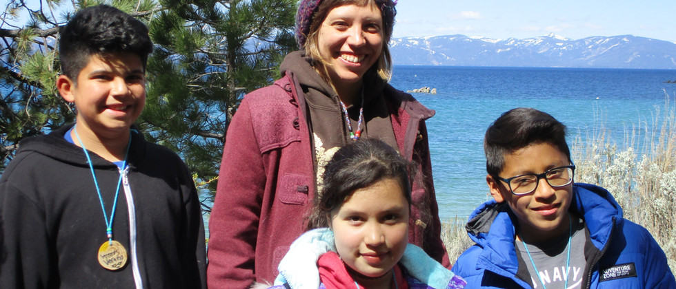 Fawn and students on Lake Tahoe