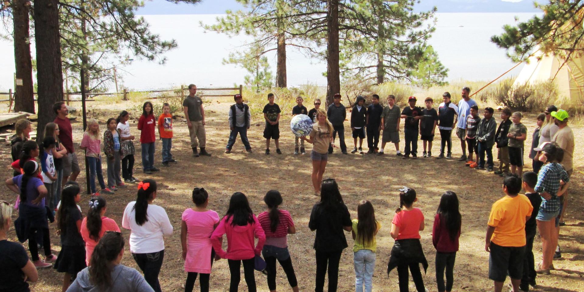Opening Circle on Lake Tahoe