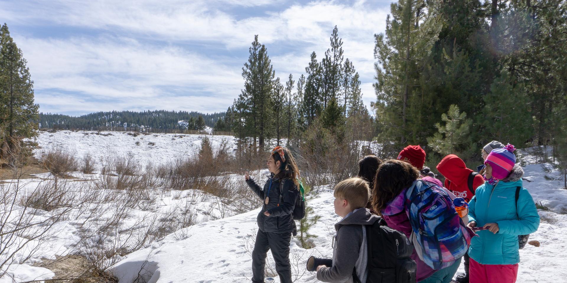 Snow Shoeing Spooner Lake