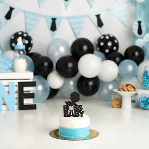 Dallas Milestone Photographer  |  Boss Baby Cake Smash