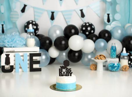 Dallas Milestone Photographer     Boss Baby Cake Smash