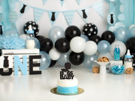 Dallas Milestone Photographer  |  Boss Baby Cake Smash