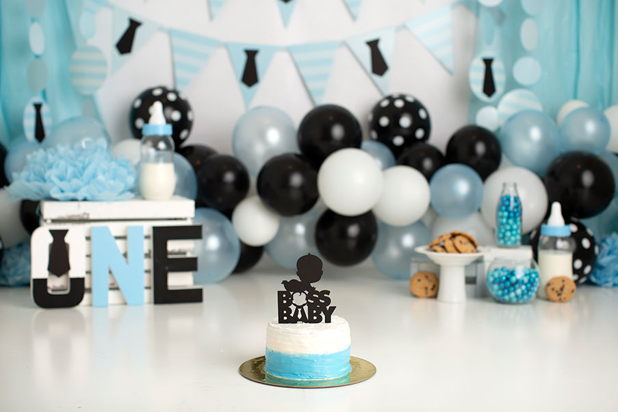 Dallas Milestone Photographer Boss Baby Cake Smash