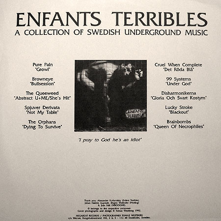 LP Enfants Terribles 1992