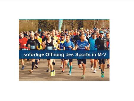 Petition - für eine sofortige Öffnung des Sports in M-V.
