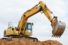 excavator machine at excavation earthmoving work in sand quarry.jpg