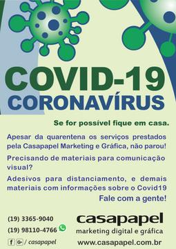 Material para o Covid-19, peça o seu!