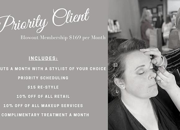 Priority Client Blowout Membership
