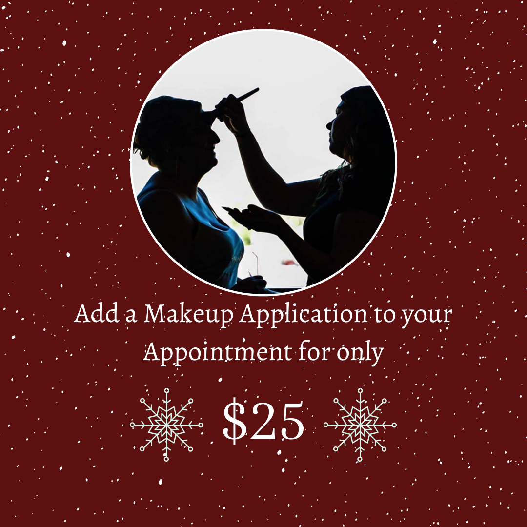 Add a Makeup Application to your appoint