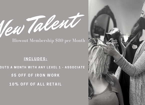 New Talent Blowout Membership