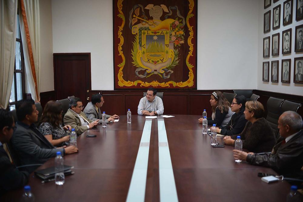 Recibe el presidente Américo Zúñiga propuesta para integrar actividades al programa Alcalde en tu escuela