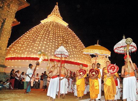Duruthu Perahera in Kelaniya Sri Lanka