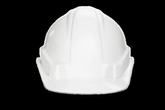 white construction helmet