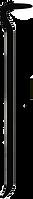 black vector image of crowbar