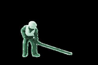 green miniature construction worker