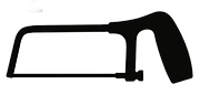 black vector image of hacksaw