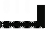 black vector image of ruler