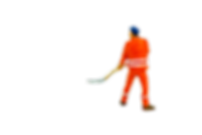 miniature construction worker with shovel