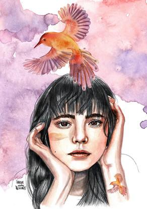 Chica pájaros