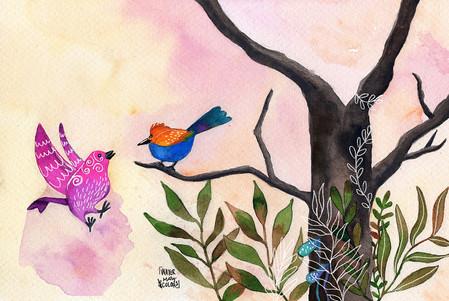 Pájaros hablando