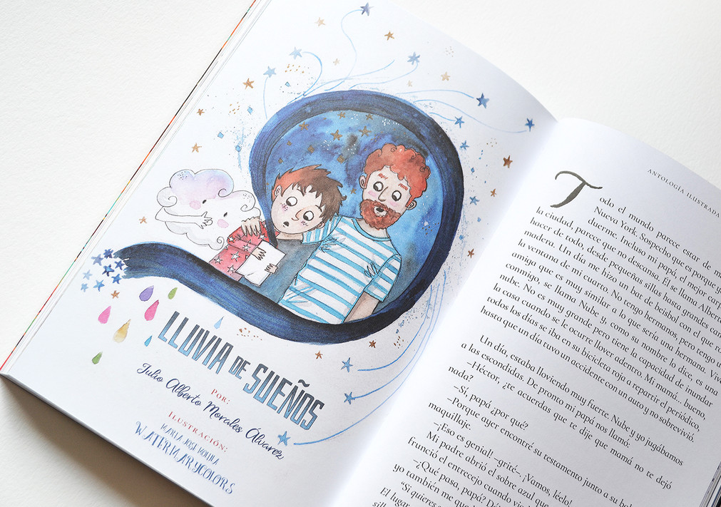 Ilustración interior, el pequeño gran escritor