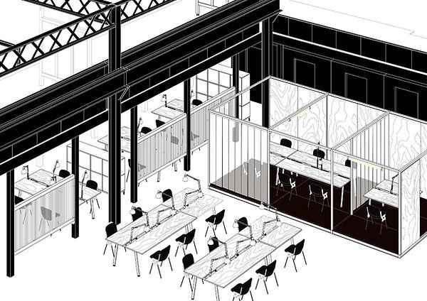 H7 aménagement intérieur mickael fabris  design espace Lyon 2