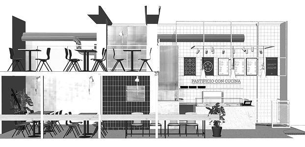 aménagement intérieur - trafilata pates fraiches, mickael fabris, design espace, Lyon 6