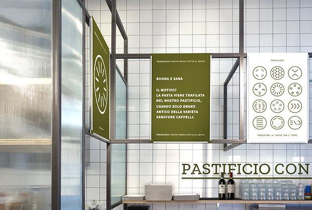 aménagement intérieur - trafilata pates fraiches, mickael fabris, design espace, Lyon 2