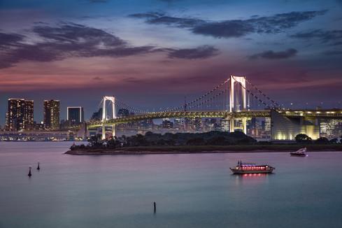 rainbow bridge Tokyo, Japan